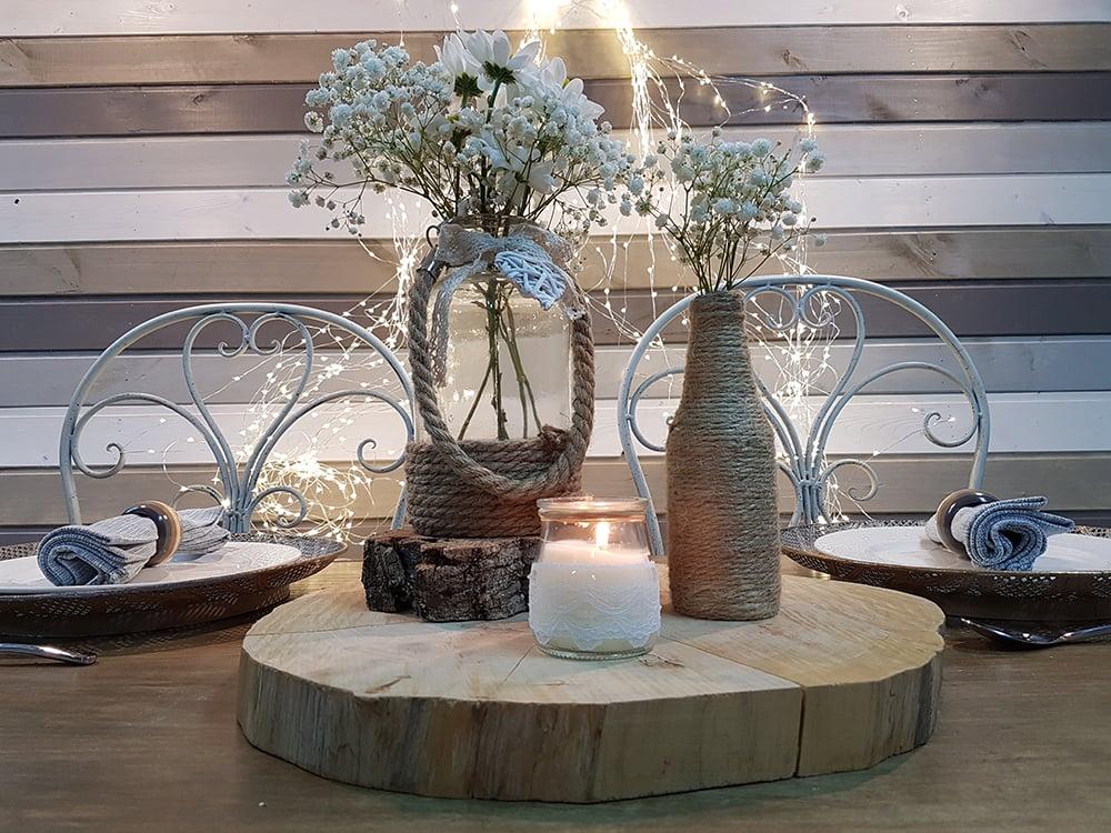 Centro de mesa r stico cuerda omicr n inspiraci n y dise o - Centro de mesa rustico ...